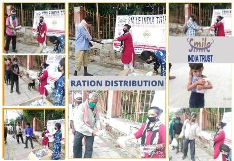 smile india trust - food distribution
